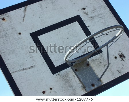 Close-up of an old, dirty and well used basket ball net