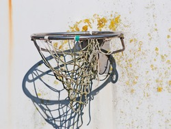 close up of an old hoop