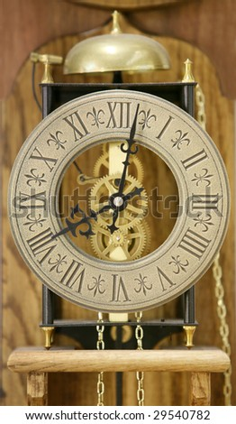 Close up of antique clock face (soft focus)