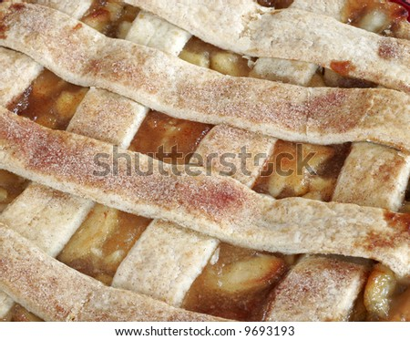 close-up of apple pie, good for background