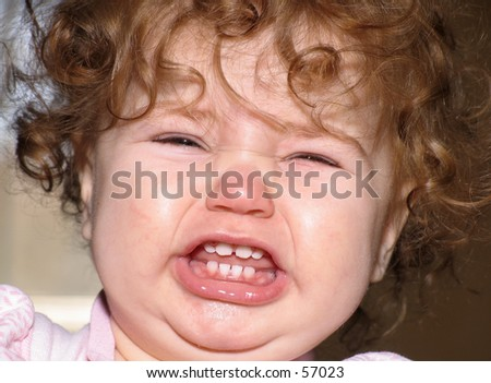 funny pictures of babies crying. close up of aby crying