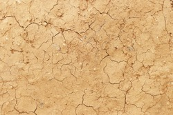 Close up of baked clay background Texture. Dry earth texture background concept for global warming themes. Dry cracked land.