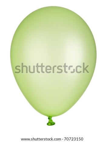 close up of balloon on white background with clipping path