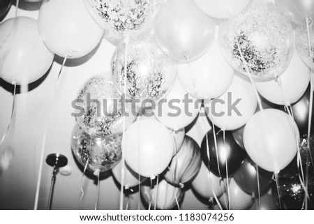 Close up of balloons at a party #1183074256