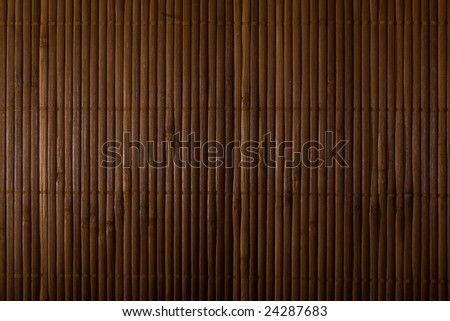 Close up of bamboo mat background - stock photo