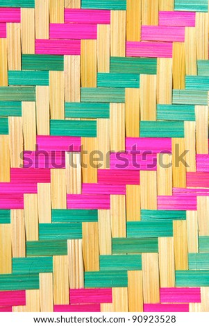 close up of bamboo pattern texture