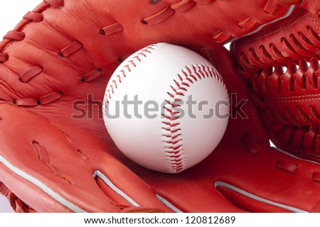 Close-up of Baseball ball and globe, background image