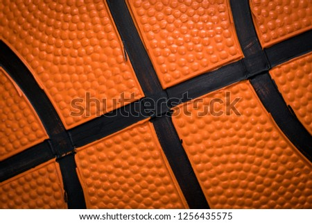 Close up of Basketball skin pattern for background and texture #1256435575
