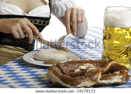 girl having a beer