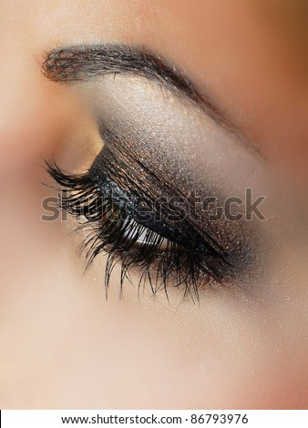 close-up of beautiful  eye