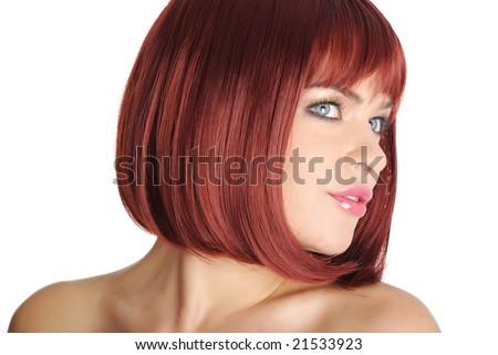 Close Up of Beautiful Redhead Woman