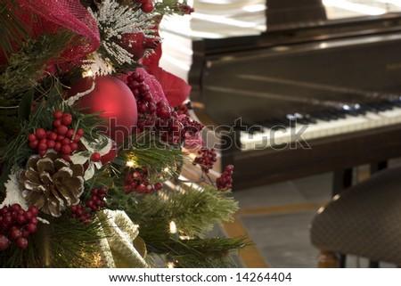 christmas piano wallpaper - photo #42