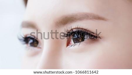 close up of beauty asia woman eye