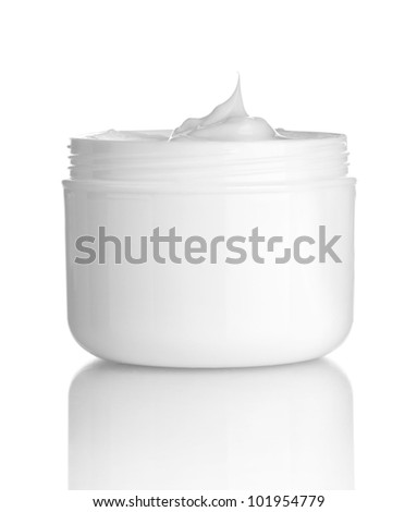 close up of  beauty cream container on white background with clipping path