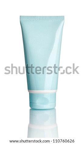 close up of  beauty hygiene container on white background with clipping path