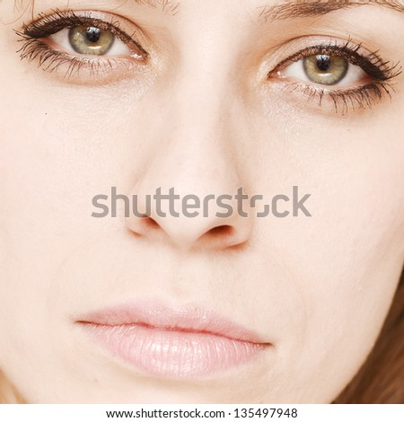 close up of beauty woman face