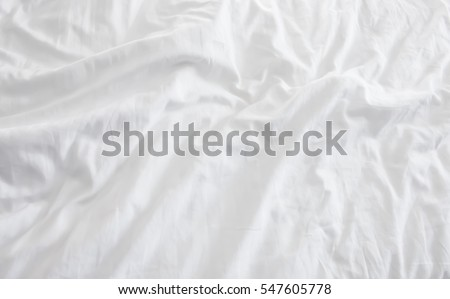Close up of bedding sheets with copy-space