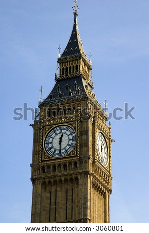 Stock Photo Close up of Big Ben on a lovely London spring day
