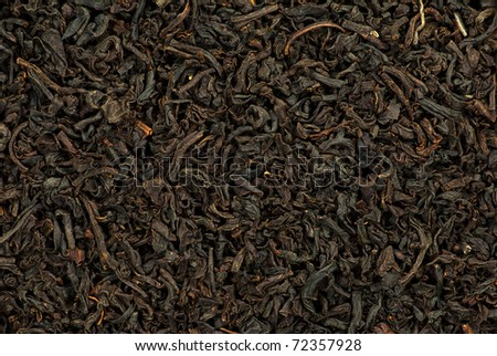 Close-up of black tea dry leaves