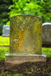 close up of blank cemetery gravestone marker with more headstones in background, no names on them, graveyard, pandemic, covid, coronavirus, accident, drunk driving, life insurance, ancient