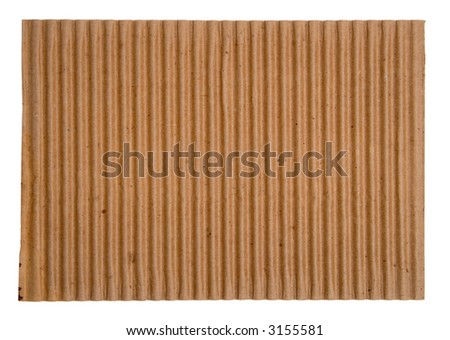 Close-up of blank corrugated cardboard