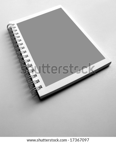 Close up of blank Spiral notepad