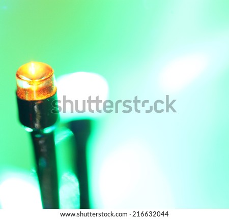 Close up of blinking LED bulbs #216632044