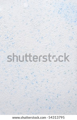 Close-up of blue and white washing powder