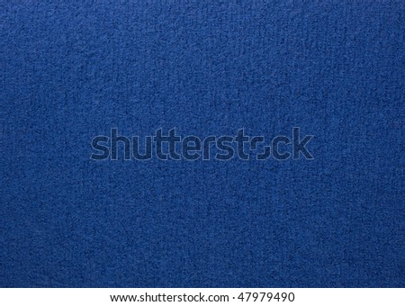Close up of blue colored wool textile  in Hi-Res