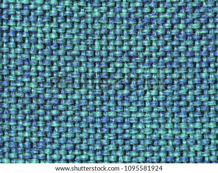 Close-up of blue fabric showing cotton strands, filling the frame. Stock fotó ©