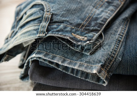 Close up of blue jeans ,Blue Jeans texture