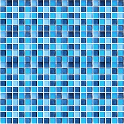 Close up of Blue mosaic tiles for background