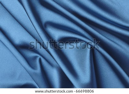 close up of blue silk textured cloth