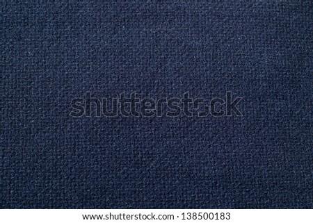 Close up of blue woolen fabric.