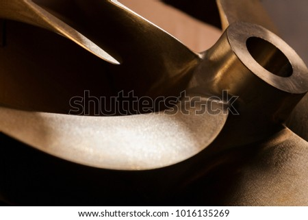 Close-Up Of Boat Propeller, still life shipyard helix