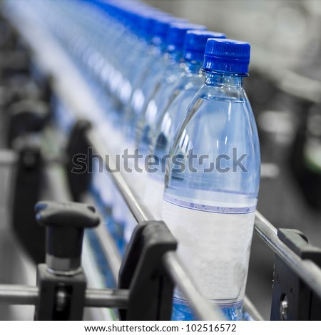 Close up of bottle industry