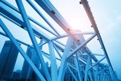 Close-up of Bridge Building Frame