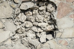 close up of broken wall for background