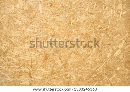 Close up of brown chipboard. Chipboard background. Foto d'archivio ©