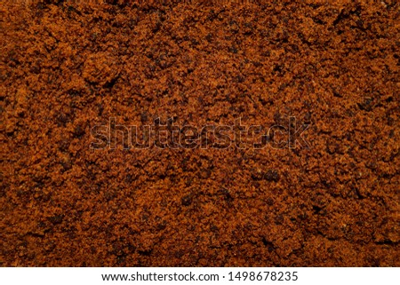 Close up of brown sugar texture background, natural Brown sugar in brown color in a brown sugar background #1498678235