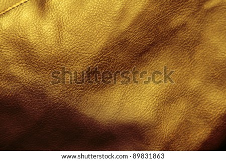Close-up of brown tone leather surface
