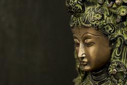 Close up of Buddha face