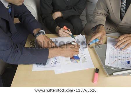 Close-up of business executives on a meeting