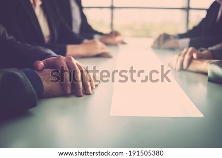 Close-up of business meeting Stock photo ©