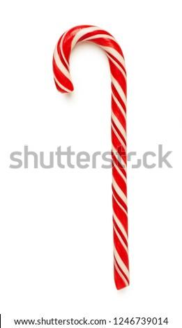 Close up of candy cane isolated on white background Stockfoto ©