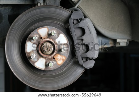 Close up of car brake - a series of MECHANIC related images.