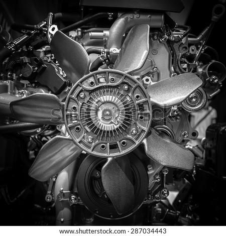 close up of car engine #287034443