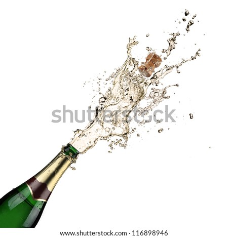 Close-up of champagne explosion #116898946
