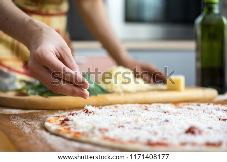 Close-up of chef cooking food kitchen restaurant cutting cook hands hotel man male knife preparation fresh preparing concept #1171408177