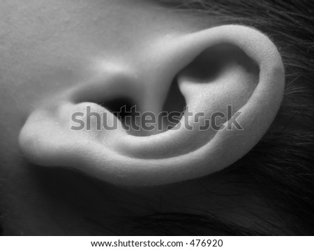 Close-up of child ear